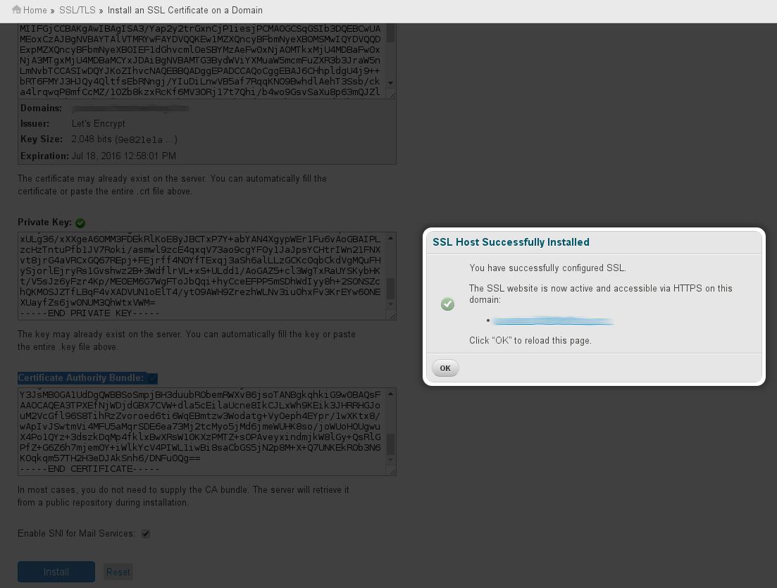 install Let's Encrypt SSL on cPanel