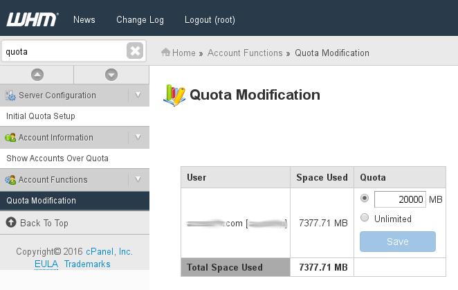 WHM showing Wrong Disk Usage on cPanel Accounts