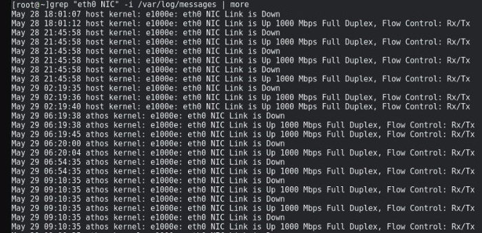 eth0 NIC Link is down