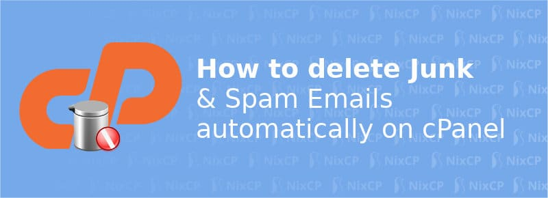 delete junk emails automatically on cpanel