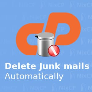 delete junk mail on cpanel