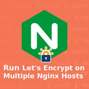lets encrypt multiple servers nginx