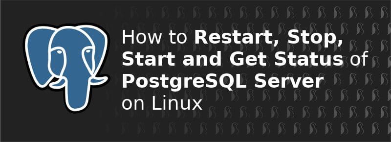 linux restart postgresql command