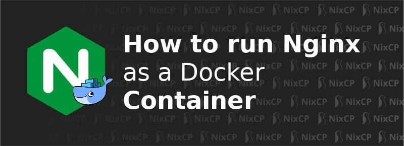 nginx as a docker container