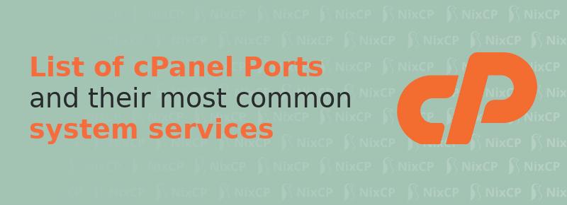 cpanel ports