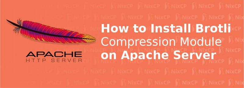 install mod_brotli on apache web server