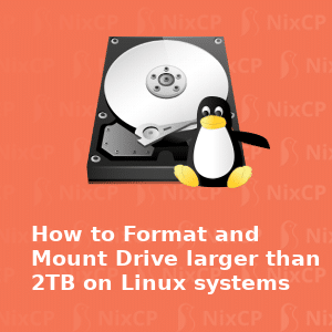 mount large drive on Linux