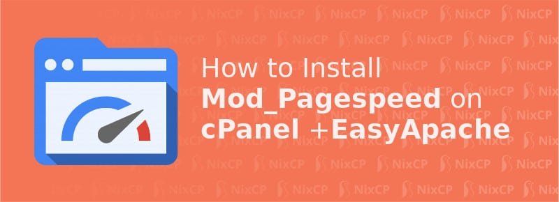 install modpagespeed cpanel easyapache4