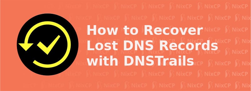 recover lost dns records